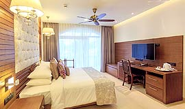 Spacious rooms at Acron Waterfront Resort in Goa