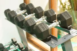 Gym at Acron Waterfront Resort in Goa